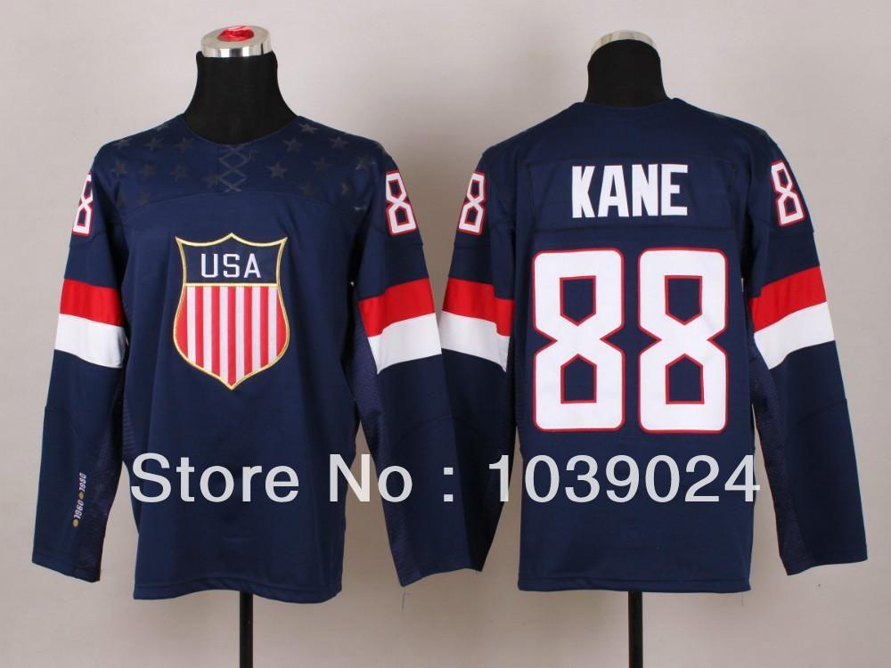 f3ed7ff7f 30 Teams-Wholesale Kids Olympic Patrick Kane USA Youth Jersey ...