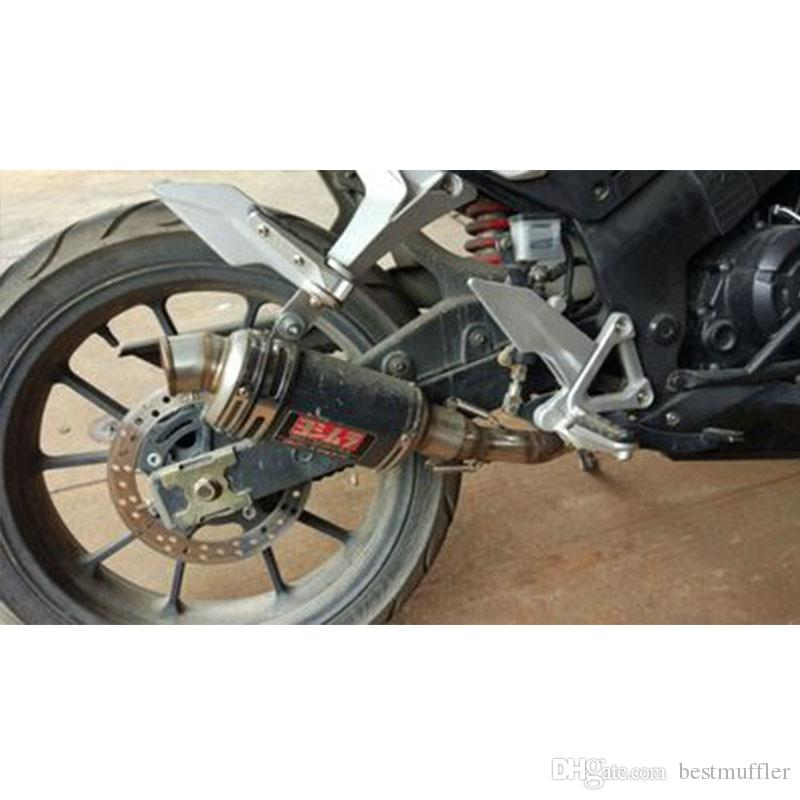 Universal Carbon Fiber Color Motorcycle Scooter Modified Yoshimura Muffler Exhaust Pipe CB600 YZF FZ400 Z750 RACING