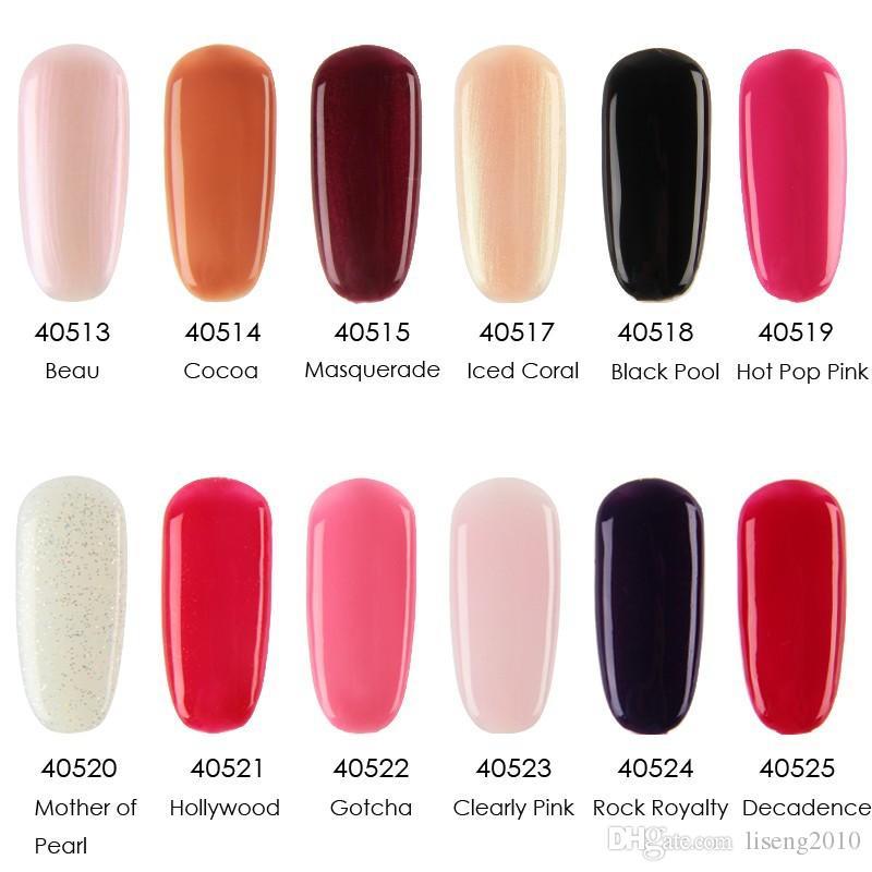 Лак для ногтей 12 шт. / Лот Harmony Gelish Soak Off Gelcolor польские цвета LED УФ-гель лак 489 цветов!