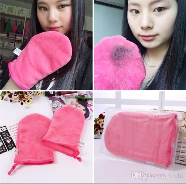 New Reusable Microfiber Facial Cloth Face Towel Makeup Remover Cleansing Glove Tool Beauty Skin face Washcloth