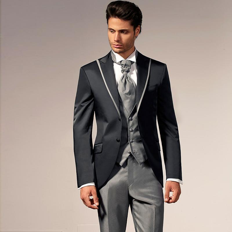 Chegada nova Personalizado Homens Terno De Casamento Do Noivo Smoking Mens Terno Noivos Homens Terno Jacket + Pants + Tie + Vest terno de Negócios