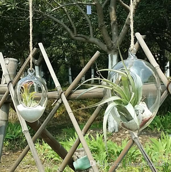2019 Glass Egg Planters Succulent Moss Garden Terrarium Indoor Plant