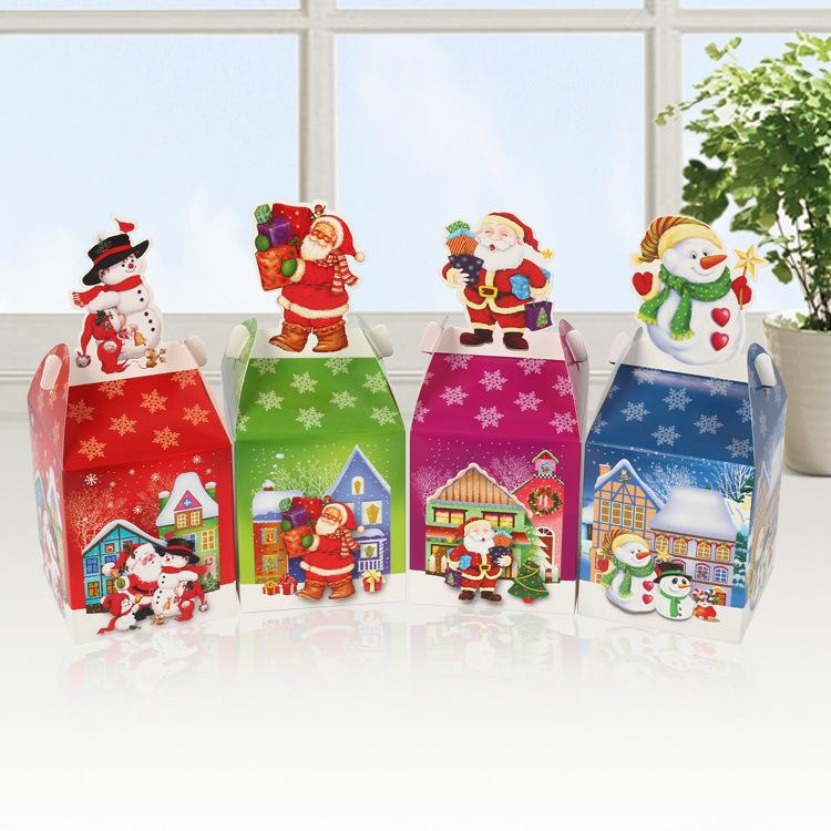 Newest santa claus christmas candy cookies paper bags