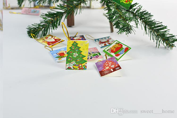 2017 sıcak Noel Kartları Baskılı Noel Süsler Dileğiyle Kart Tatlı Dilek Doğum Günü Çocuklar Hediye Için Perakende Paketi Ile Güzel