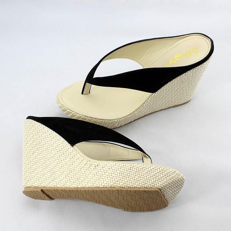 Hot Sale Women Platform High Heels Wedge Slippers Big Size 33-43 Open Toe Flip Flops Ladies Casual Open Toe Summer Shoes Sandal
