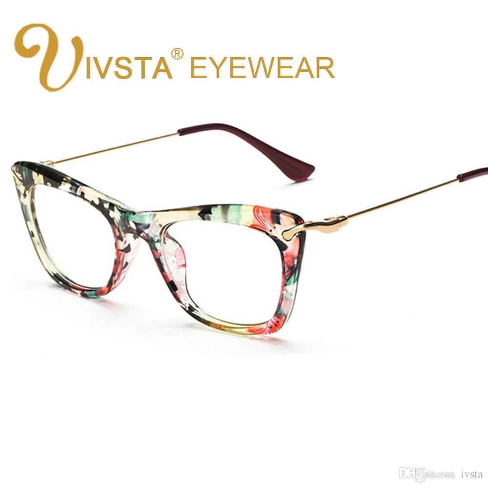 70720d25e9 IVSTA Butterfly Women Glasses Frame Cat Eyewear Cat Eye Glasses ...