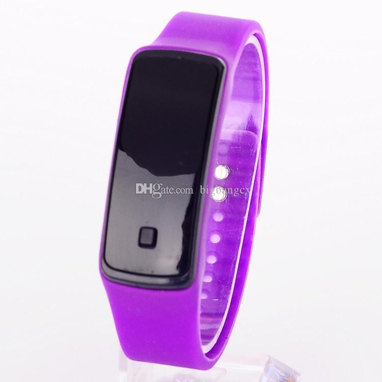 New design Candy LED Silicone Bracelet watches Colorful Fashion Women Mens Sports touch Digital Led Watches with Silicone band