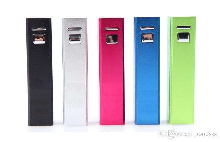 2600mAh 스위치 버튼이있는 미니 스퀘어 PowerBank 외부 모바일 배터리 비상 휴대용 휴대 전화 MP3 MP4에 대 한 휴대용 휴대용 여행 전원 은행 충전기