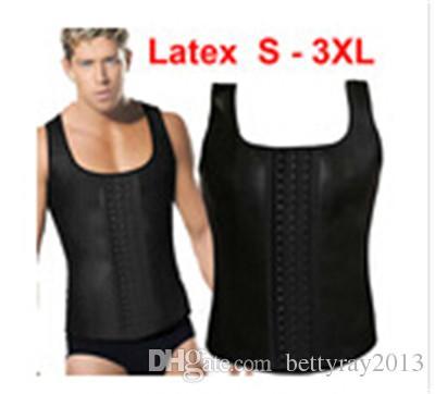 32e1b74116 2019 S 3XL Plus Size Sport Hot Shapers Vest Latex Waist Cincher For Men Waist  Training Corset Body Slimming Weight Loss Waist Trainer M718 From  Bettyray2013 ...