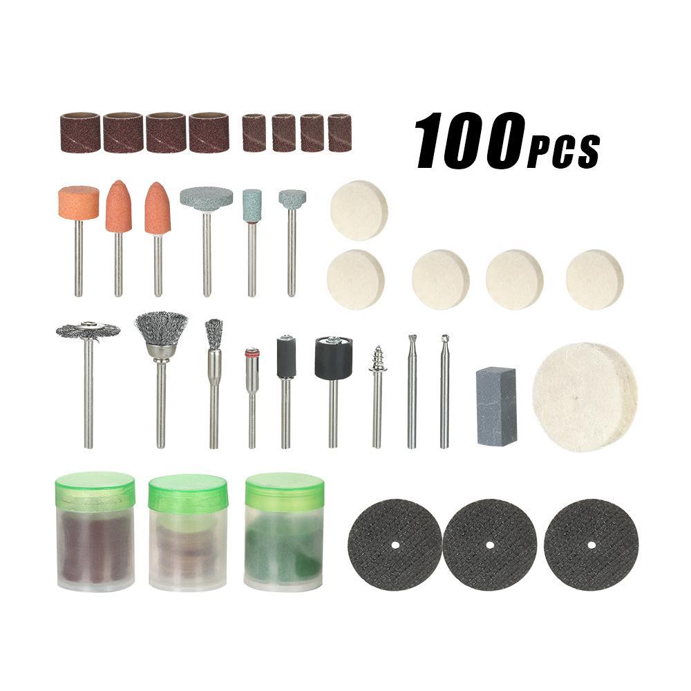 "100pcs 1/8"" dremel drill engraver Electric grinder tool Accessories Rotary Tool Set grinding machine Polishing Bit Accessory Kit"