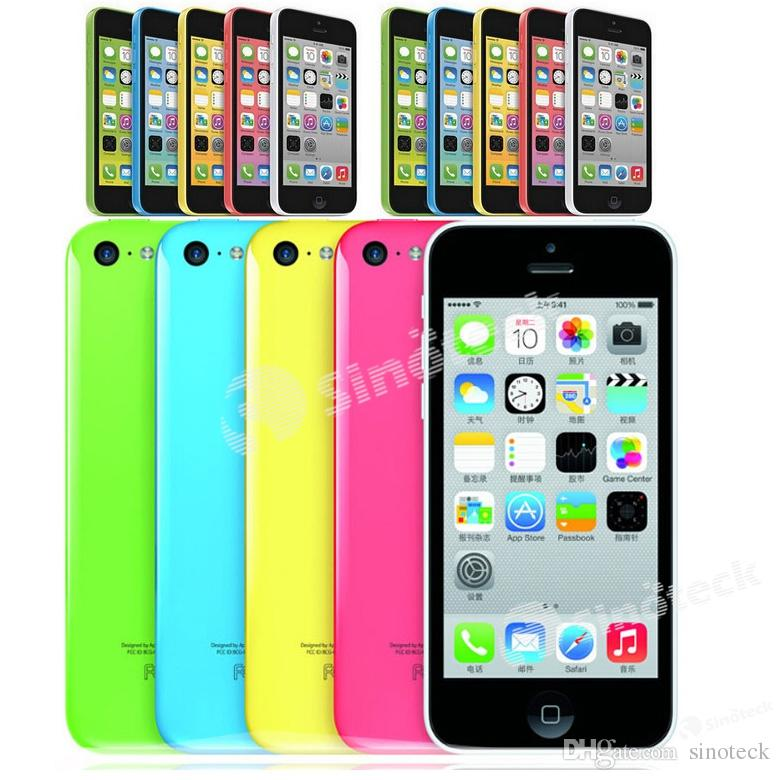 Apple iPhone 5C iOS9 téléphones remis à neuf 100% authentique Smartphone origine débloqué mobiles Dual Core 4.0 '' Retina 3G WCDMA US Version 8 16 32G