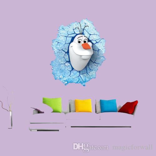 Frozen Wall Art frozen olaf snowman breakthrough 3d wall stickers removable decals