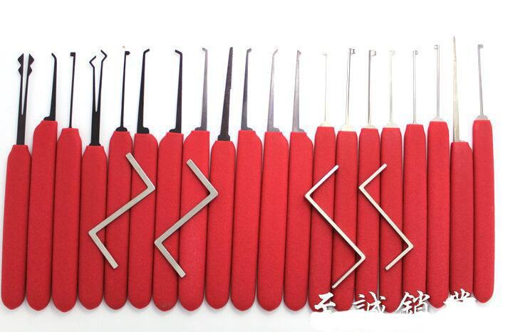 HUK 20 +4 망간 강철 딤플 잠금 선택, 카바 잠금 선택, 후크 도어 오프너 자물쇠 도구 잠금은 높은 품질을 고릅니다