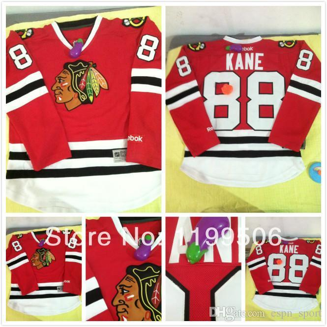7bb30bf96 2015 Cheap 2014 Chicago Blackhawks  88 Patrick Kane Youth Boys  Kid S  Red White Stitched Ice Hockey Jersey Shirt UK 2019 From Espn sport