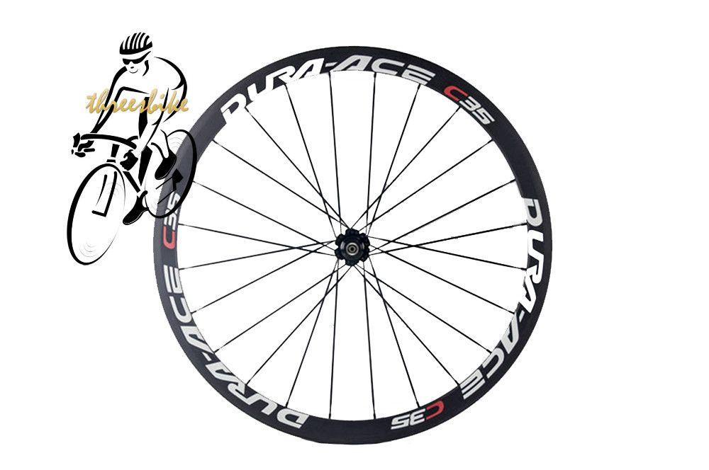 Full Carbon Fiber Road Bike Wheels C35 C50 38/50mm 3k Weave Racing Bicycle wheelset Outside Sports with Aero Spoke
