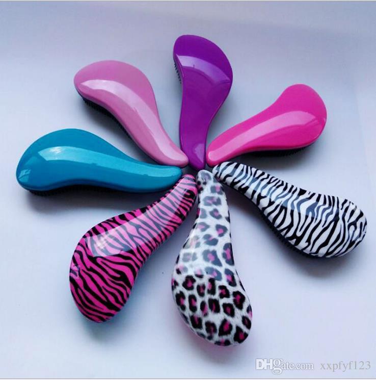 Magia districante manico spazzola capelli pettine Salon Styling Tool groviglio doccia pettine dei capelli TT spazzola capelli A65