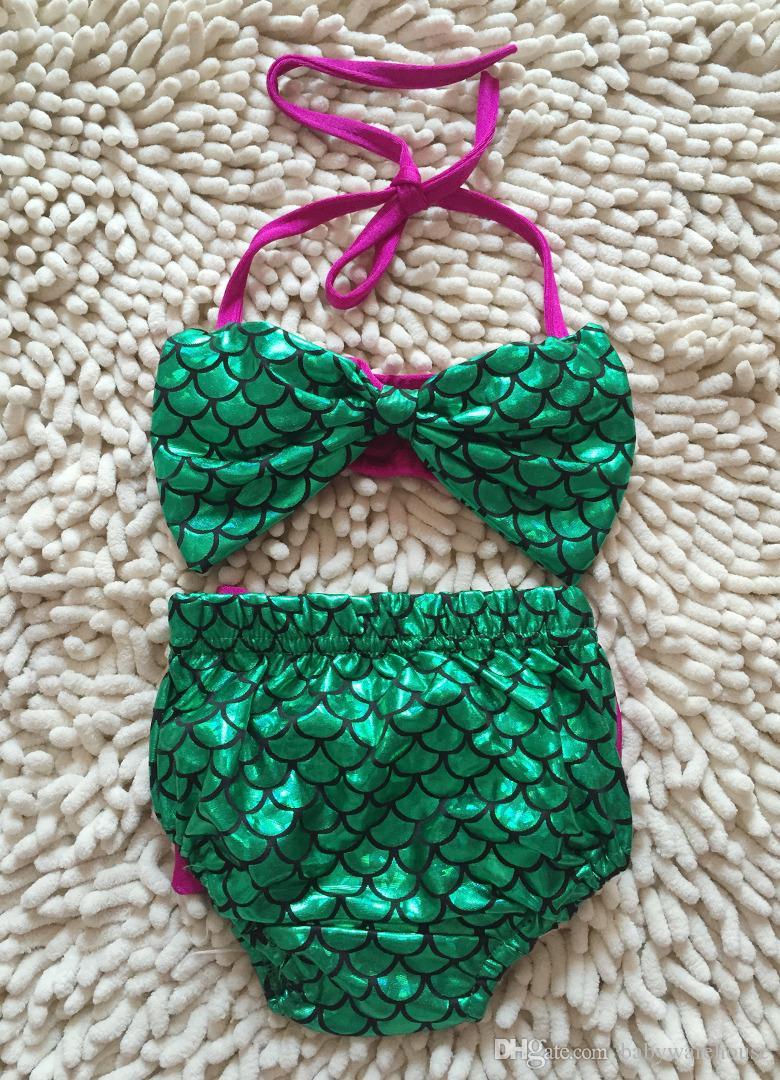 Kleinkind Kinder Bademode Baby Mädchen Meerjungfrau Badeanzug Mädchen Bikini Set Sommer Kinder Bademode Badeanzug Baby Schwimmen Kostüm Beachwear
