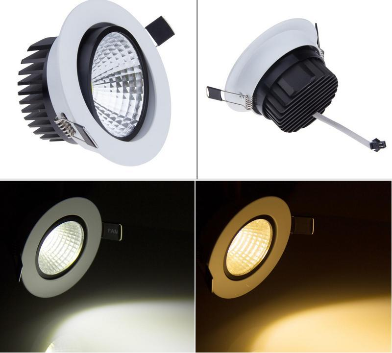 Nuevo Dimmable empotrable led downlight cob 6W 9W 12W 15W regulable LED Spot luz led ceiling lamp Panel Light AC 110V 220V focos