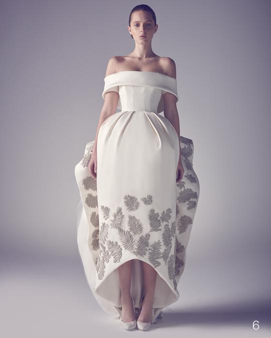 Nuevo diseñador Ashi Studio Emboridery Vestidos de fiesta fuera del hombro Vestido de fiesta Patrón de satén Flor Vestido por encargo Arco Volver Cremallera