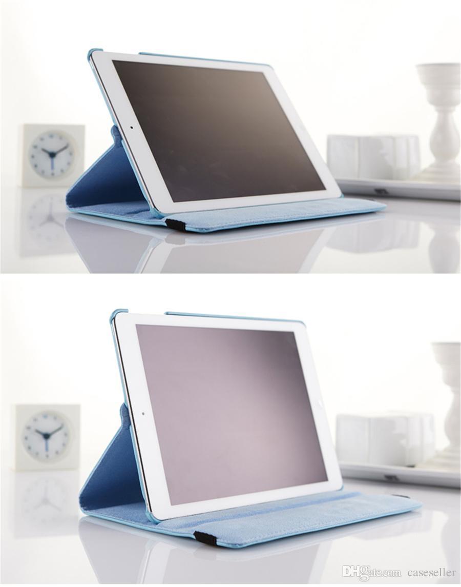 360 grados giratoria Lichee PU funda de cuero para iPad Mini 1 2 3 4 iPad Air Air2 pro 9.7 Samsung Tab TabS TabA Envío gratis