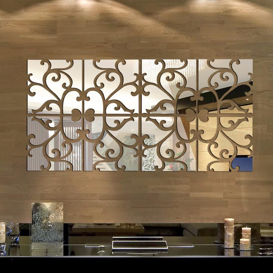 Diy D Mirror Wall Stickers Acrylic Mural Big Sticker Home - Wall decals mirror