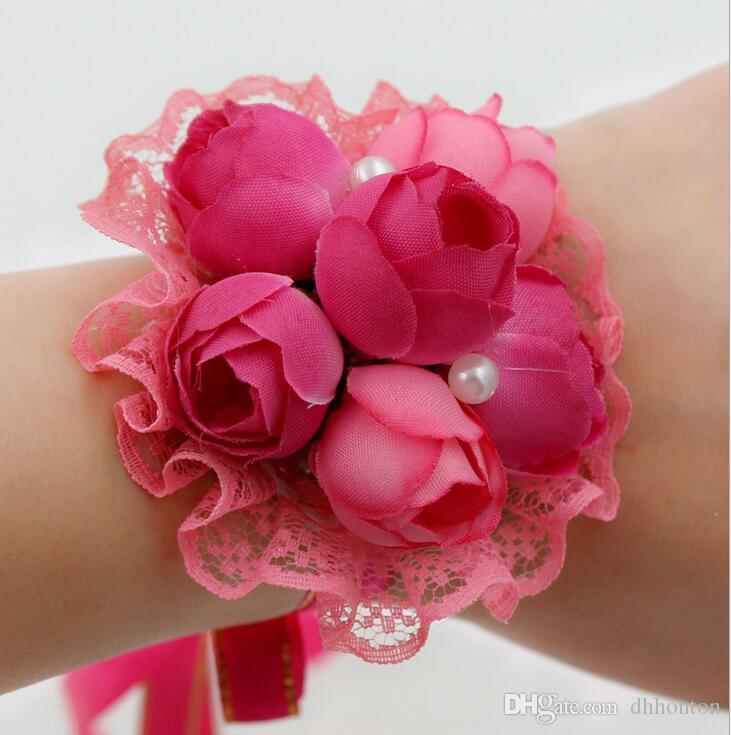 Bella rosa rosso fiore viola corpetto di fiori con spilla pin la sposa e lo sposo nuziale forniture al dettaglio e all'ingrosso BF02