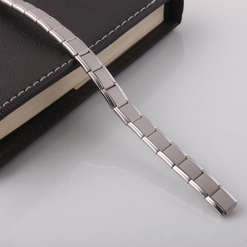 Titanium Energy Magnetic 20 Germanium Energy Bracelet fonction de santé Énergie power bracelets Wrist Band femmes hommes déclaration bijoux 160807