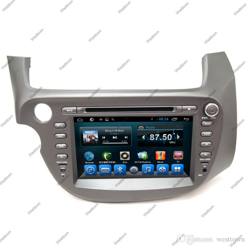 Car touch screen in car dvd cd player gps sat nav entertainment system with bluetooth swc mp3 fit for Honda Fit 2012