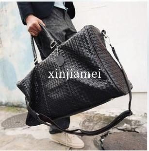 eeacebecc27f New Woven Bag The New Men S Large Portable Shoulder Bag Casual Bag  Overnight Bag Prepared Lines Travel Bags For Men Mens Shoulder Bags From  Xinjiamei