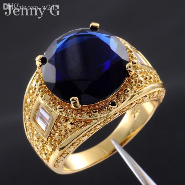 Wholesale Jenny G Jewelry Size 9 13 Big Blue Sapphire 18k Yellow