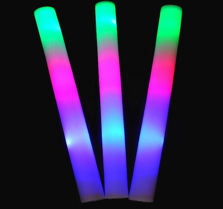 Led Foam Stick Light Up Sticks Halloween Flashing Led Flash Multi Color Blinking Glow Rock Toy Christmas Gift