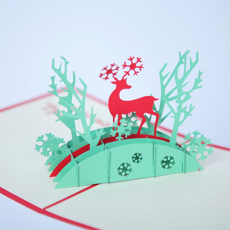 Creative 3d christmas greeting card diy christmas deer card holiday creative 3d christmas greeting card diy christmas deer card holiday wishes card christmas greeting card christmas deer card wishes card online with m4hsunfo