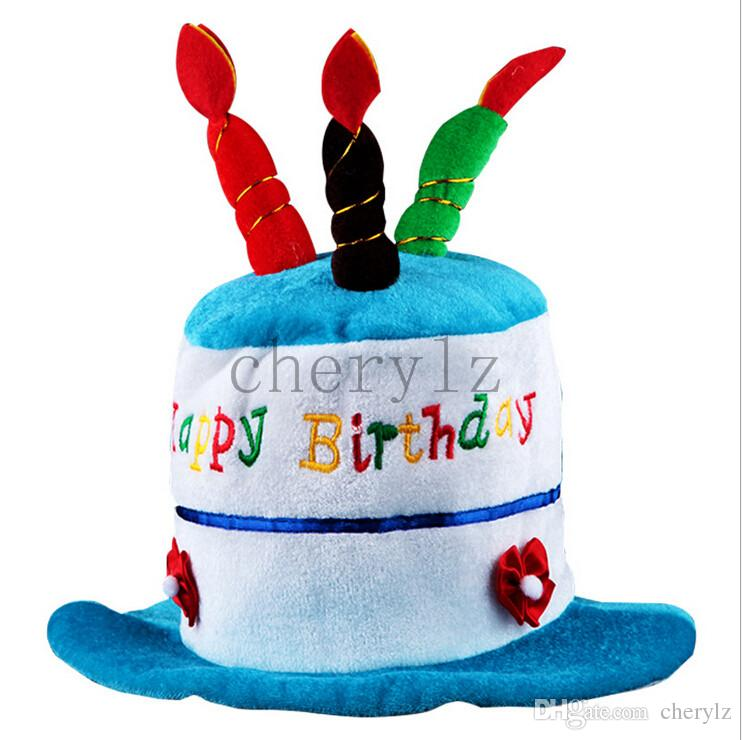 Baby'S Hats New Stylish Design Unisex Kids Birthday Cake Candle Funny Cap Party Performance Prop
