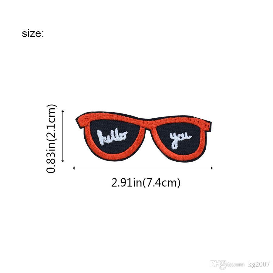 10шт очки Патчи для одежды Сумки Железа на передаче Аппликация патч для джинс DIY пришить вышивки Знак