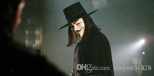 V Mask Halloween Mask Masquerade Masks For Vendetta Super Scary Anonymous Valentine Ball Party Full Face Guy Fawkes