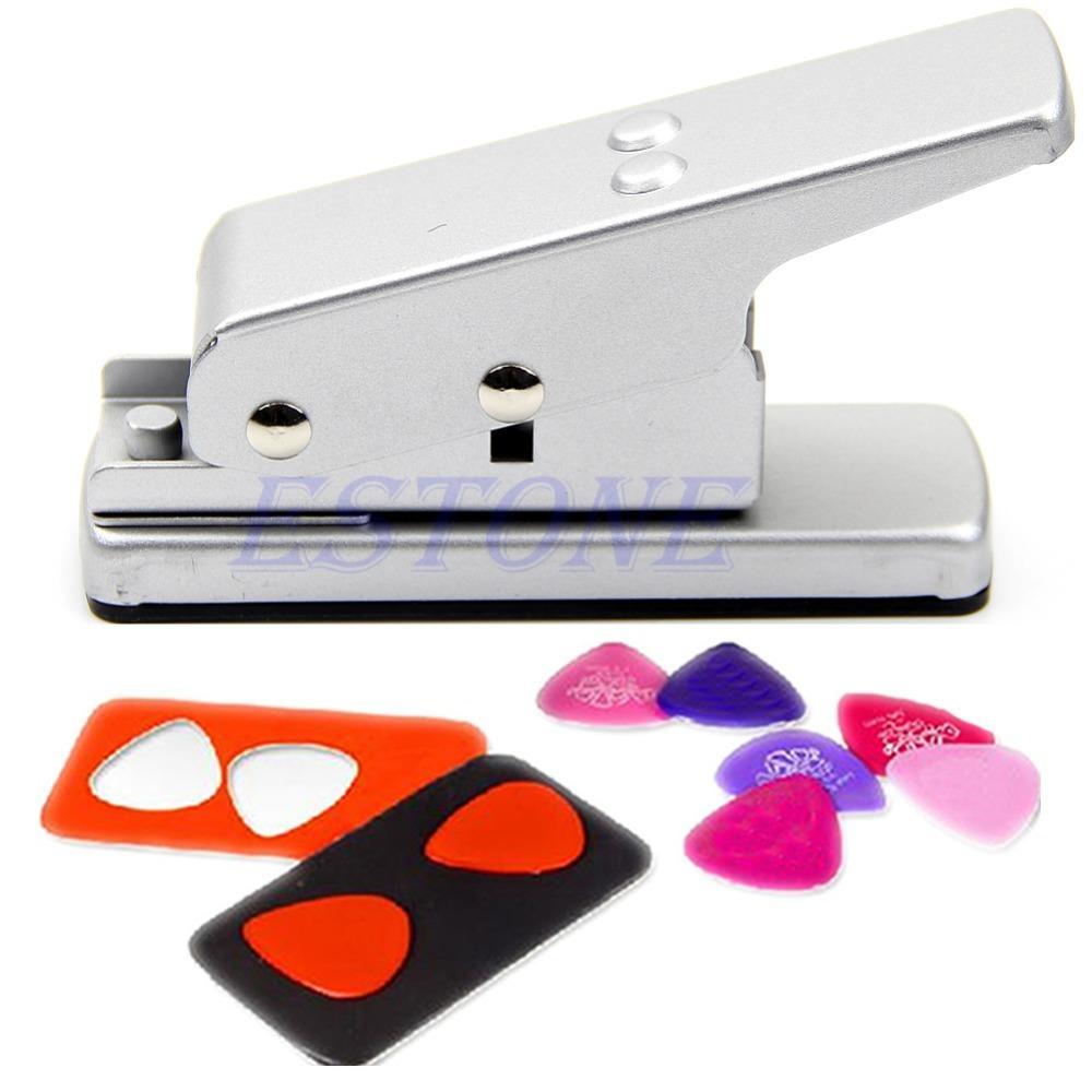 Quente!! Prata Professional Guitar Picareta Plectro Picks Criador Card Cutter DIY própria Pick S
