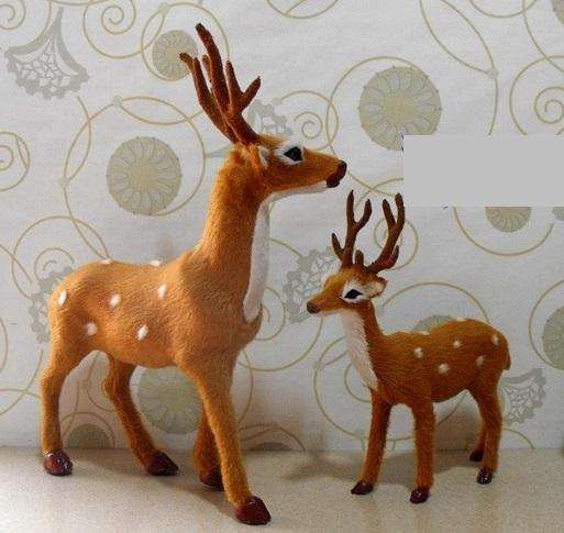 realistic looking furry animals deer material fake furpe resin weight 30g50g - Christmas Deer Decor