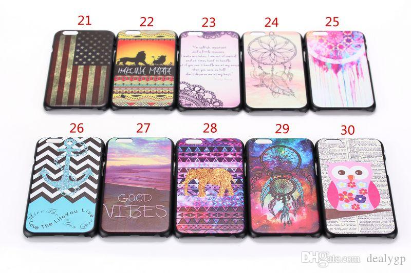 Custom Printed Hard Plastic pc Smart Phone Case Cover for Apple iPhone 6 Plus
