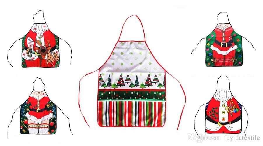 Christmas Apron Hot sale of new Santa Claus apron Christmas decorations with cartoon aprons cartoon ornaments