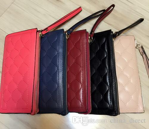 2016 damen mädchen Checker Lackleder Geldbörse kartenhalter Geldbörse Lange Kupplung Handtasche Tasche 5 farben # 3755