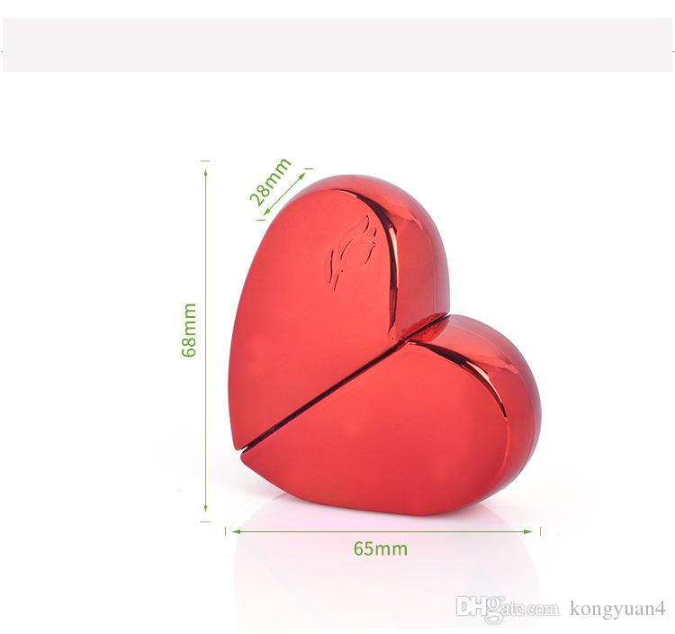 20 ml em forma de coração De Vidro De Alumínio Garrafa De Perfume de Presente de Alta Qualidade Recarregável Mini Perfume-frasco de Perfume Atomizador