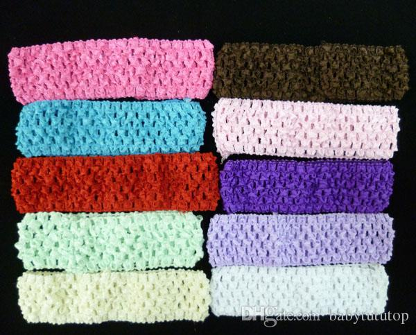 "1.5"" crochet headbands baby hair bands high quality cheap hair accessories for girls"
