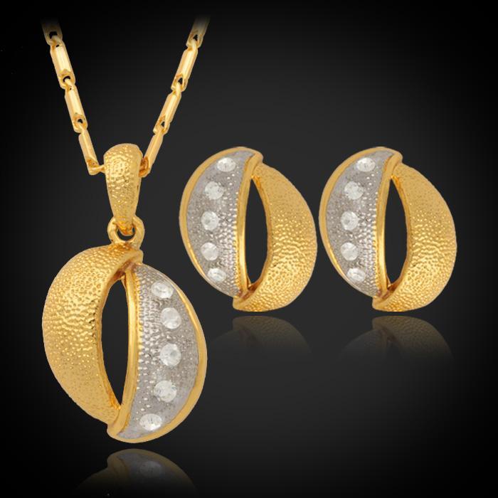 Nieuwe Gouden Platinum Multi Plated Rhinestone Mode-sieraden Set Match Snake Ketting Ketting Sieraden voor Vrouwen YS1101