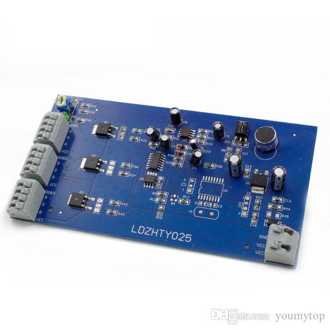 2016 الساخن بيع الصمام الإضاءة led قطاع الخفيفة الموسيقى الصوت الحساسة ir تحكم ل rgb led أضواء قطاع 12 فولت 6a