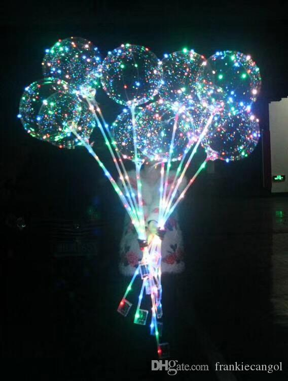 Led balloon light with stick holder bobo balloons