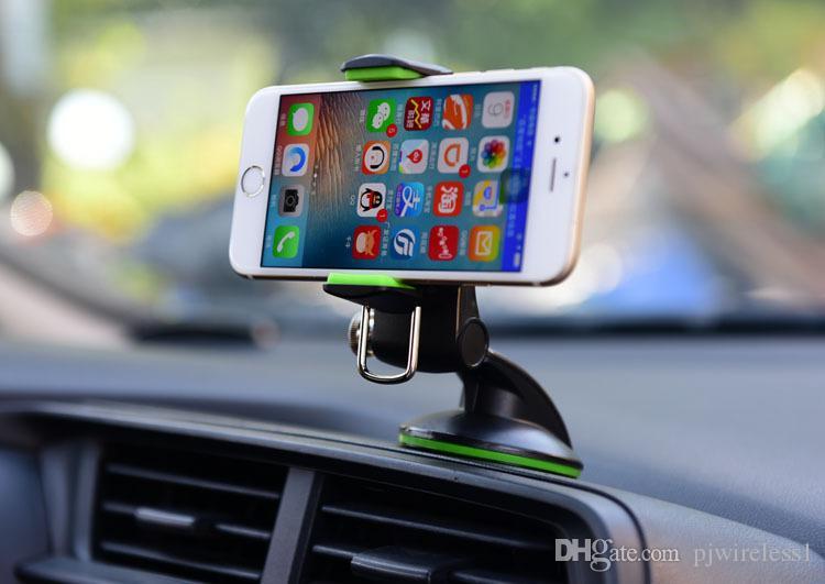 Pour iphone Pour Samsung 360 ° Rotate Voiture polyvalente avec support intérieur type de navigation allongé pour navigation, étui de téléphone portable commun B