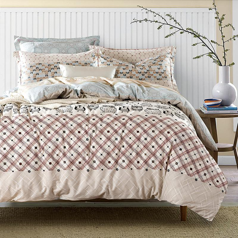 Wholesale Adult Owl Bedding Sets Queen King Size Cotton Printed Fabric  Plaid Geometric Duvet Cover Bed Sheets Bedroom Textile Sets Buy Bedding  Online King ...