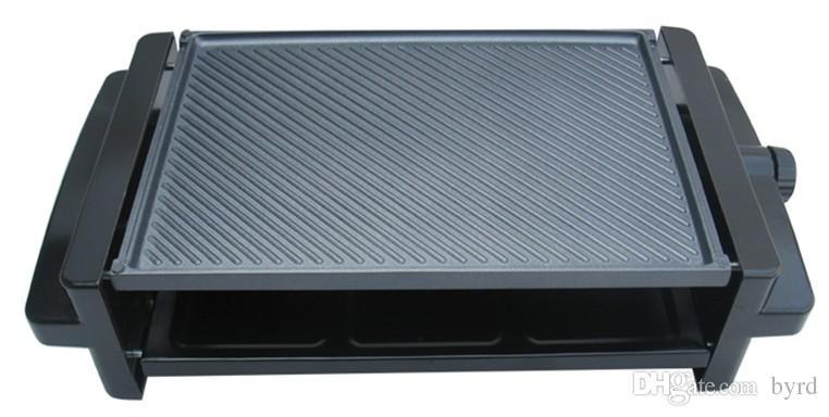 전기 오븐 한국 무연 가정용 전기 그릴 BBQ 그릴 팬 비 스틱 프라이팬 220V 1200W 022