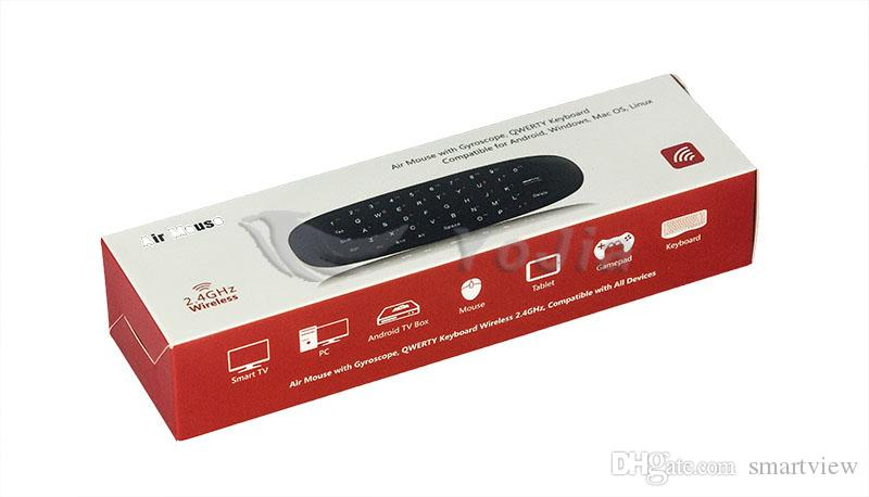 Original 2,4-GHz-G-Maus C120 Air Mouse T10 nachladbare drahtlose GYRO Air Fly Maus und Tastatur Combo für Android TV Box-Computer