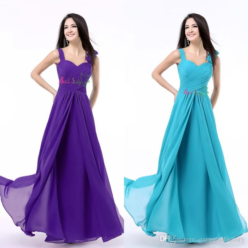 purple and turquoise wedding dresses purple bridesmaids dress sweetheart neckline with straps 6877